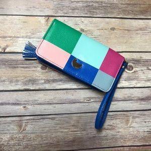 Buxton 1898 Multicolor Wallet Mod Block Patchwork